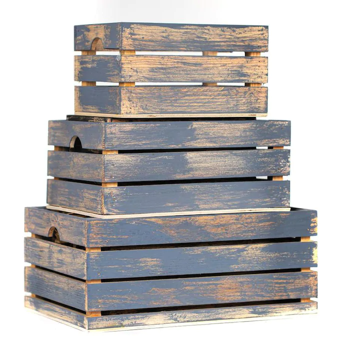 Black Friday 2020: Rustic crates make fun storage options.