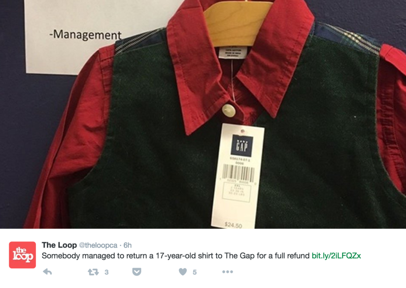 17 Years Later, a Customer (Finally) Returned This Gap Shirt