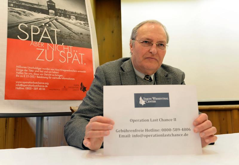 Efraim Zuroff, director of the Jerusalem Office of the Simon Wiesenthal Center