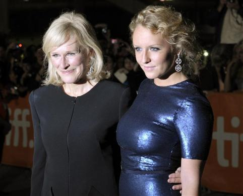 "Glenn Close and her daughter Annie Starke pose at the gala presentation for the film ""Albert Nobbs"" at the 36th Toronto International Film Festival, September 11, 2011."