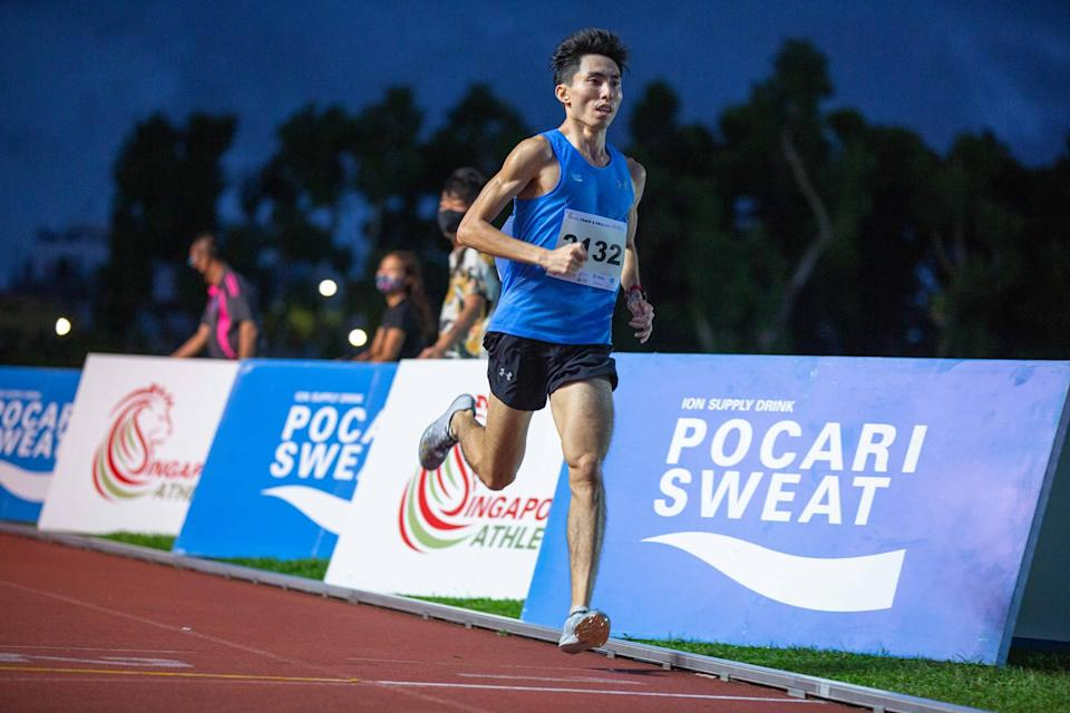 Soh Rui Yong en route to setting the official national 2.4km record on 4 September 2021. (PHOTO: Soh Rui Yong/Facebook)