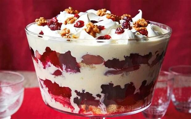 Cranberry, pear and port trifle  - Yuki Sugiura