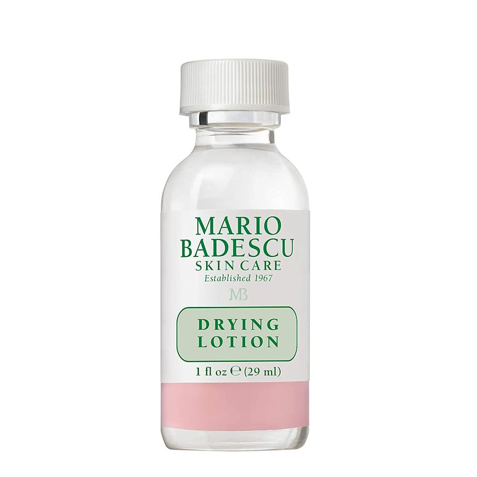 """<a href=""""https://www.allure.com/review/mario-badescu-drying-lotion-acne?mbid=synd_yahoo_rss"""" rel=""""nofollow noopener"""" target=""""_blank"""" data-ylk=""""slk:Mario Badescu's Drying Lotion"""" class=""""link rapid-noclick-resp"""">Mario Badescu's Drying Lotion</a> is an icon in the world of fast and effective breakout busters. As one of last year's Readers' Choice Award winner, the calamine, salicylic acid, and sulfur treatment dries pimples out overnight and helps reduce any redness left behind. Shop this and the entire <a href=""""https://www.allure.com/story/amazon-prime-day-2020-mario-badescu?mbid=synd_yahoo_rss"""" rel=""""nofollow noopener"""" target=""""_blank"""" data-ylk=""""slk:Mario Badescu product range"""" class=""""link rapid-noclick-resp"""">Mario Badescu product range</a> for 30 percent off through June 22. $17, Amazon. <a href=""""https://www.amazon.com/Mario-Badescu-Drying-Lotion-fl/dp/B0017SWIU4/ref=sr_1_1_sspa?"""" rel=""""nofollow noopener"""" target=""""_blank"""" data-ylk=""""slk:Get it now!"""" class=""""link rapid-noclick-resp"""">Get it now!</a>"""