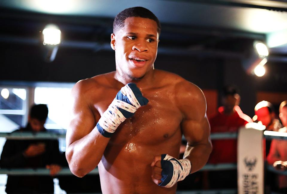 LONDON, ENGLAND - SEPTEMBER 27: Devin Haney trains during the Devin Haney Media Workout at Rathbone Boxing Club on September 27, 2019 in London, England. (Photo by Jack Thomas/Getty Images)