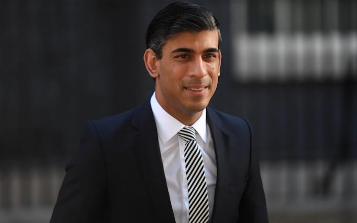 Britain's Chancellor Rishi Sunak arrives for a cabinet meeting, the first since mid-March because of the coronavirus disease - Peter Summers/Getty Images Europe