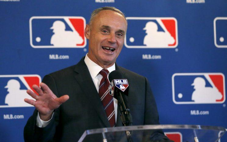 MLB Commissioner Rob Manfred wants to expand the game globally. (AP Photo)