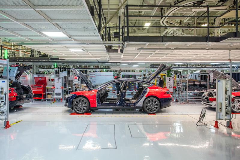 tesla vehicle factory