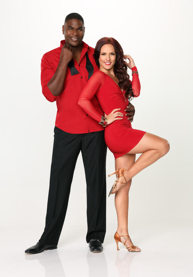 "Keyshawn Johnson partners with Sharna Burgess on ABC's ""Dancing With the Stars"" Season 17."