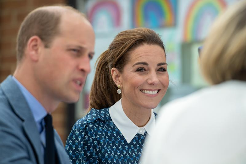 The Duke and Duchess of Cambridge during their visit to Queen Elizabeth Hospital in King's Lynn as part of the NHS birthday celebrations.