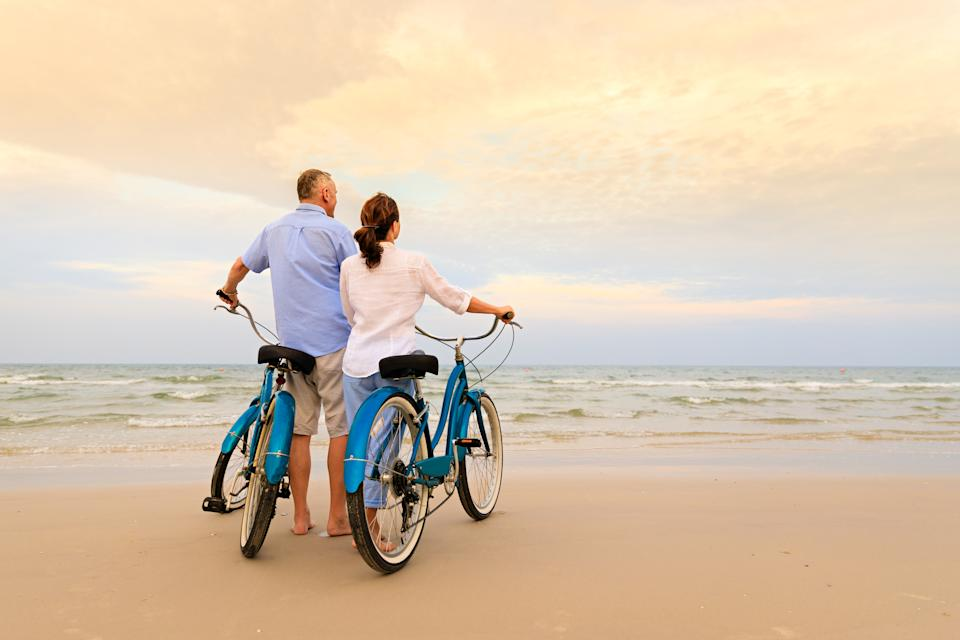 Active couple with bikes. Photo: Getty