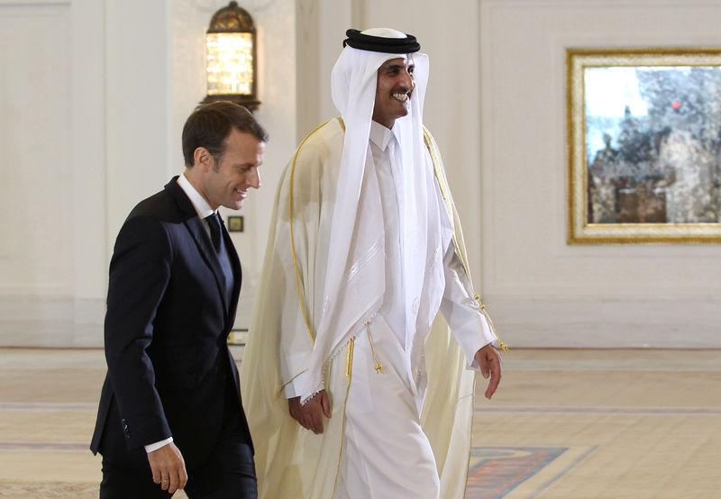 "MACRON SALUE LA ""PLEINE IMPLICATION"" DE DOHA CONTRE LE TERRORISME"