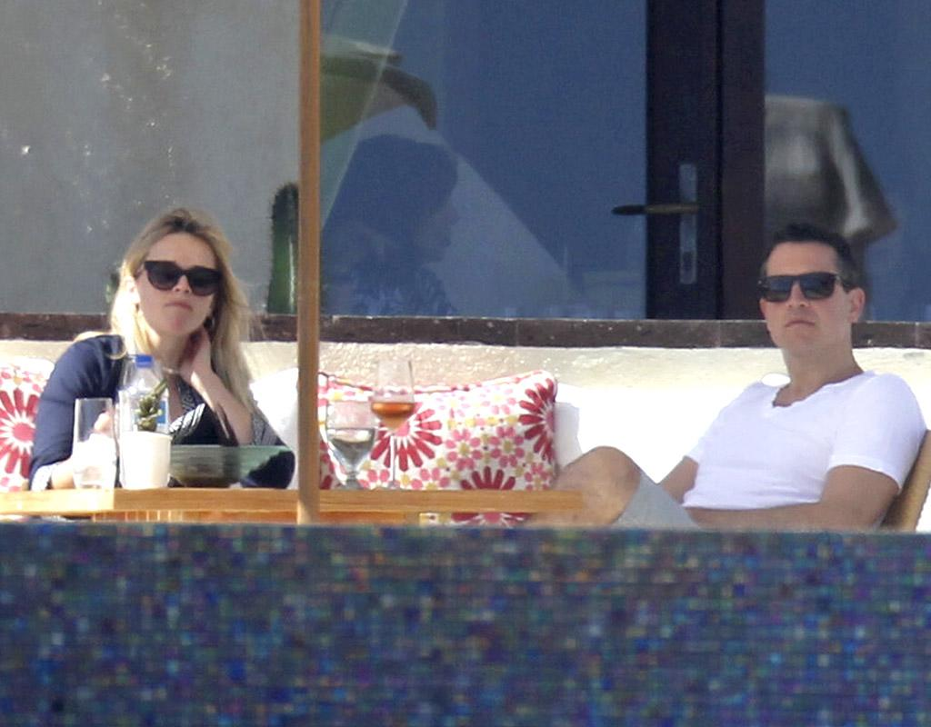 They may be in the middle of a public relations nightmare after they were both arrested last month, but Reese Witherspoon and her agent hubby Jim Toth enjoyed more relaxing times back in March when the couple celebrated Reese's 37th birthday in Cabo San Lucas.<br /> (3/22/2013)