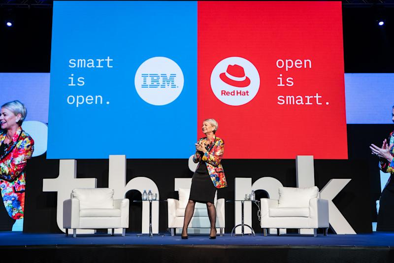 Harriet Green on stage. Photo: IBM