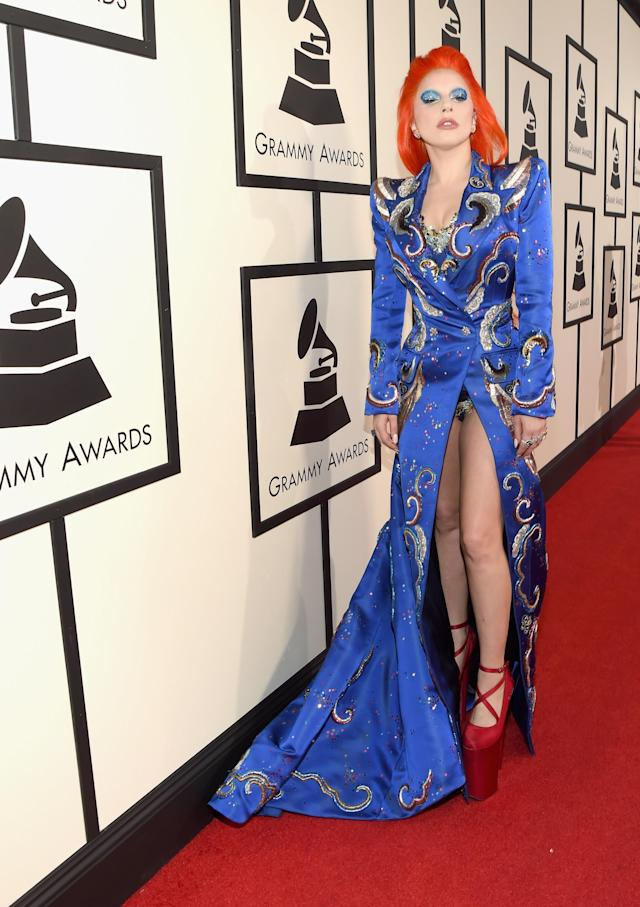 Lady Gaga at the 2016 Grammys. (Photo: Getty Images)