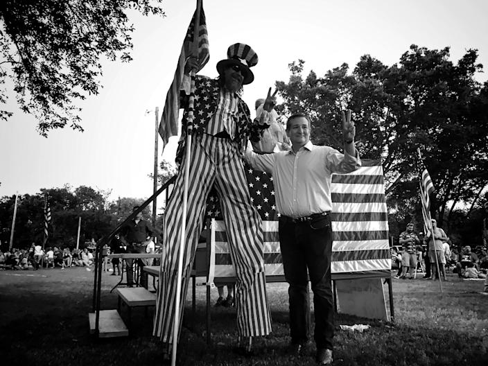 <p>Sen. Ted Cruz at a Fourth of July event in Talco, Texas. (Photo: Holly Bailey/Yahoo News) </p>