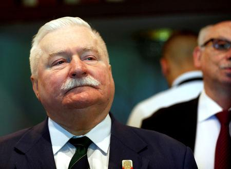 FILE PHOTO: 1983 Nobel Peace Prize winner, former Polish president, Lech Walesa attends European Ideas Network Francisco Lucas Pires merit award ceremony in Riga, Latvia May 24, 2018. REUTERS/Ints Kalnins/File Photo