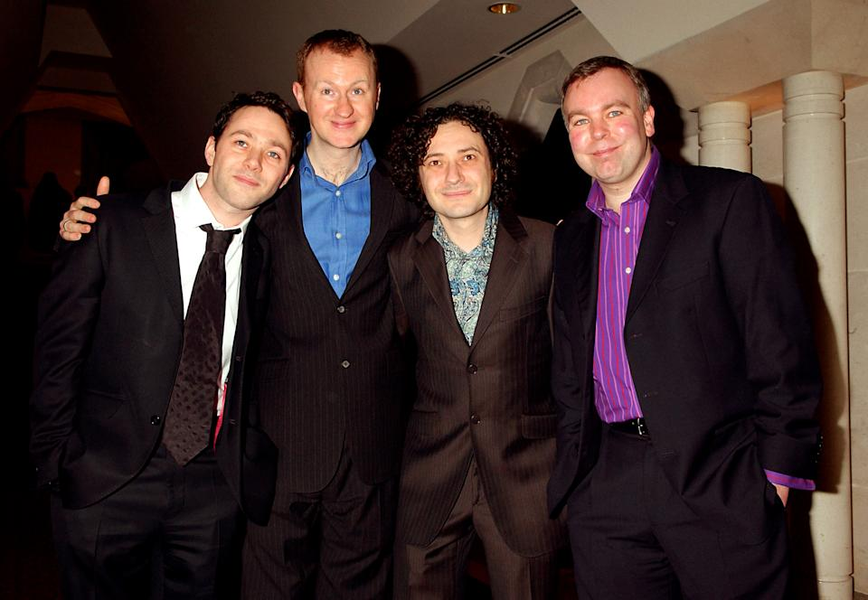 The League of Gentlemen (L-R) Reece Shearsmith, Mark Gatiss, Jeremy Dyson and Steve Pemberton.   (Photo by Yui Mok - PA Images/PA Images via Getty Images)