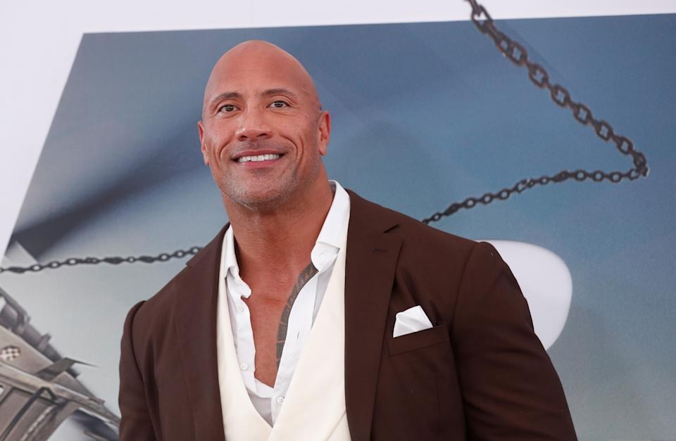"Cast member and producer Dwayne Johnson poses at the premiere for ""Fast & Furious Presents: Hobbs & Shaw"" in Los Angeles, California, U.S., July 13, 2019. REUTERS/Mario Anzuoni"