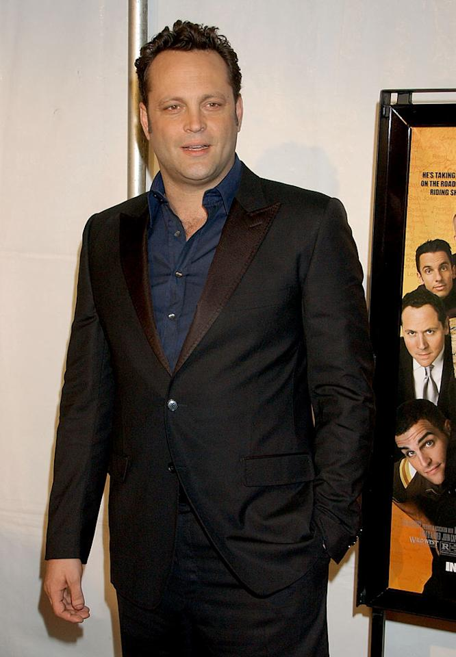 "Vince Vaughn arrives at the Hollywood premiere of ""Vince Vaughn's Wild West Comedy Show: 30 Days and 30 Nights."" The film follows host Vince and four stand-up comedians - that he hand-picked himself - as they take their variety show on the road. Gregg DeGuire/<a href=""http://www.wireimage.com"" target=""new"">WireImage.com</a> - January 28, 2008"