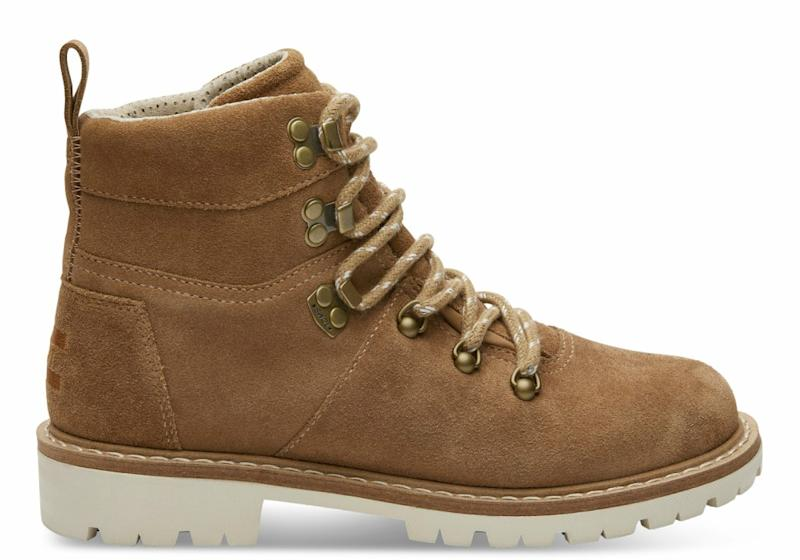 toms waterproof toffee suede summit boot