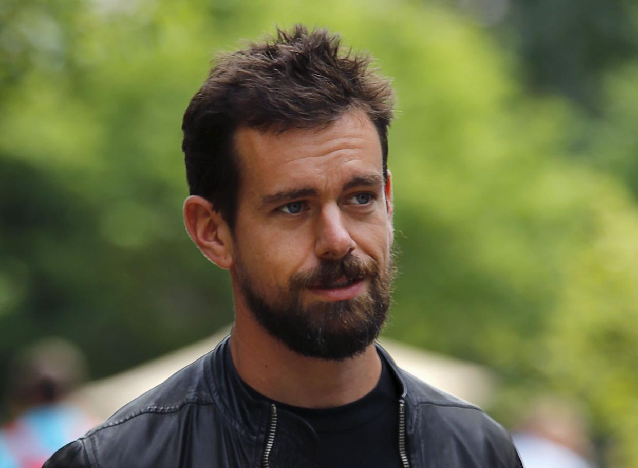 """Twitter CEO Jack Dorsey said that """"accounts like Jones' can often sensationalize issues and spread unsubstantiated rumors,"""" but alluded it was not Twitter's job to censor such content. (Photo: Mike Blake / Reuters)"""