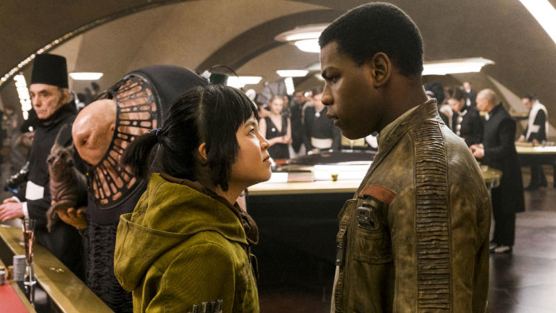 Boyega and Tran in The Last Jedi (Credit: Disney)