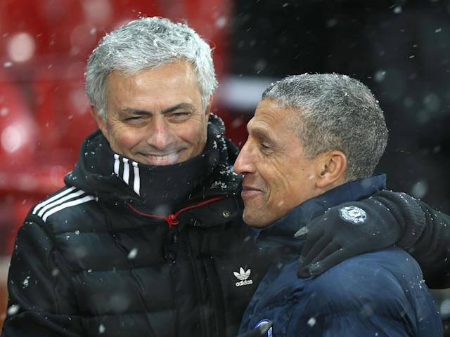 Manchester United boss Jose Mourinho has a 'wonderful way' of dealing with pressure, says Chris Hughton