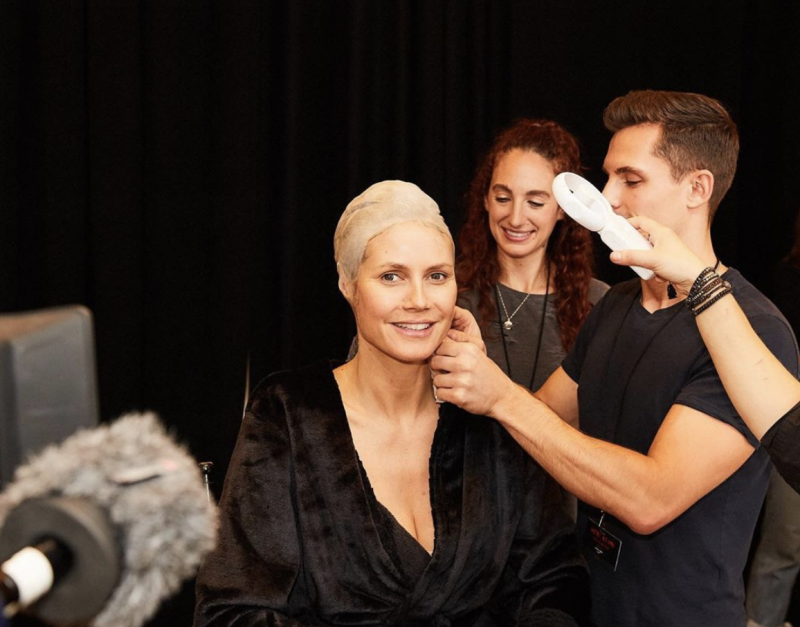 Heidi Klum spends Thursday prepping for Halloween night. (Photo: Instagram)