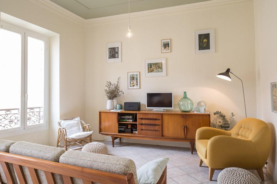 "<p>With nearly 10-foot ceilings and design that would not be out of place in a Scandinavian home, this Airbnb is an oasis that give us <a href=""https://www.cntraveler.com/gallery/hygge-lagom-coorie-which-lifestyle-philosophy-is-best-for-you?mbid=synd_yahoo_rss"" rel=""nofollow noopener"" target=""_blank"" data-ylk=""slk:serious Swedish lagom vibes"" class=""link rapid-noclick-resp"">serious Swedish lagom vibes</a>. Its two bedrooms are each color-blocked—a mustard yellow for the kids room with two twin beds and a deep calming blue for the larger room. The kitchen is well equipped and its location couldn't be better, just two minutes from the waterfront and a few blocks from the Jardins Biovès that host the area's annual Lemon Festival each February. Plus, it's in Menton, an underrated spot on the French Riviera that has all of the colorful buildings and beaches the area is known for with a fraction of the crowds.</p> <p><strong>Book now:</strong> <a href=""https://airbnb.pvxt.net/e57MZ"" rel=""nofollow noopener"" target=""_blank"" data-ylk=""slk:From $147 per night, airbnb.com"" class=""link rapid-noclick-resp"">From $147 per night, airbnb.com</a></p>"