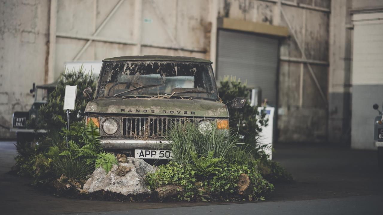 <h2>First-generation Range Rover</h2>  <p>The good thing about showing off your classic Land Rover is that you don't need to wash it, because it's meant to go off-road. The owner of this beautiful first-generation Range Rover has artfully disguised some of the dents by placing bushes in front of the car. </p>