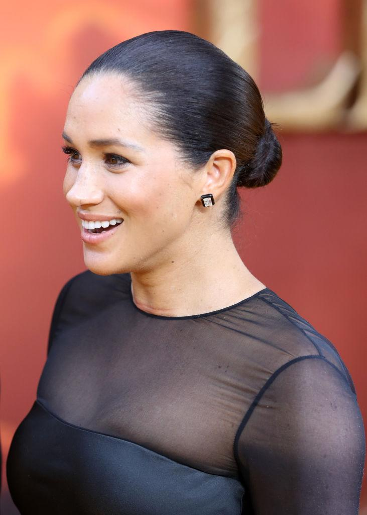 """Meghan, Duchess of Sussex attends """"The Lion King"""" European Premiere at Leicester Square on July 14, 2019 in London, England. (Photo by Chris Jackson/Getty Images)"""