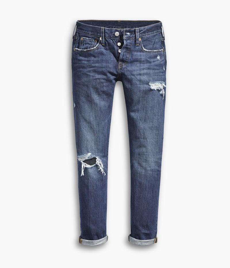 Levi's 501 Taper Jeans in Bolt Blue (Photo: Levi's)