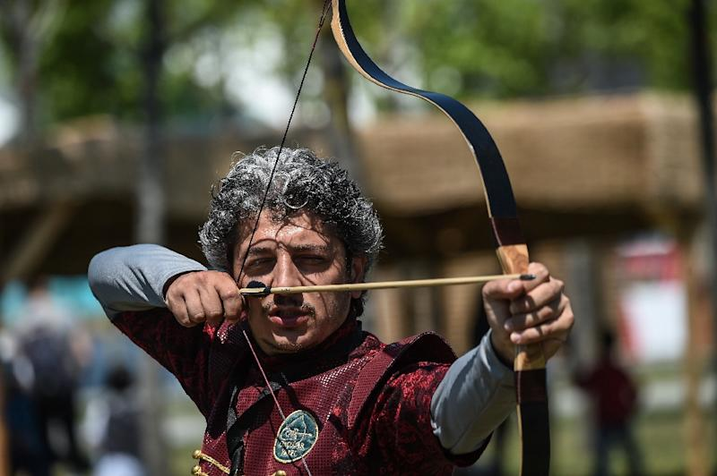 Traditional archery was one of the main events (AFP Photo/OZAN KOSE)