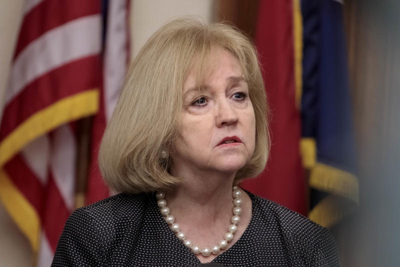 St. Louis Mayor Lyda Krewson speaks at a press conference after the Stockley verdict last month.