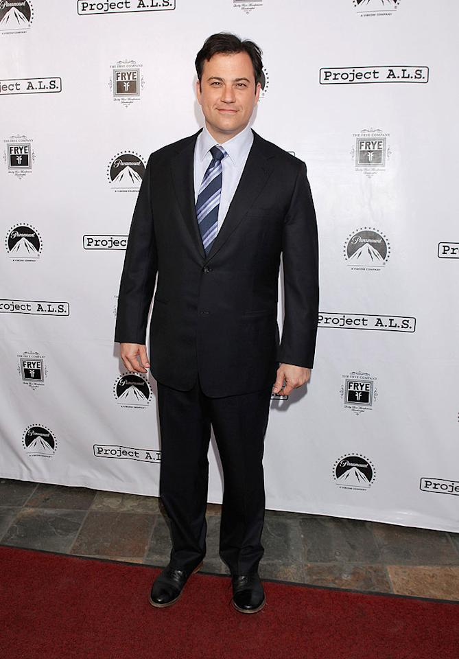 """""""Handsome Men's Club"""" president Jimmy Kimmel suited up for the fete. Todd Williamson/<a href=""""http://www.wireimage.com"""" target=""""new"""">WireImage.com</a> - April 21, 2010"""