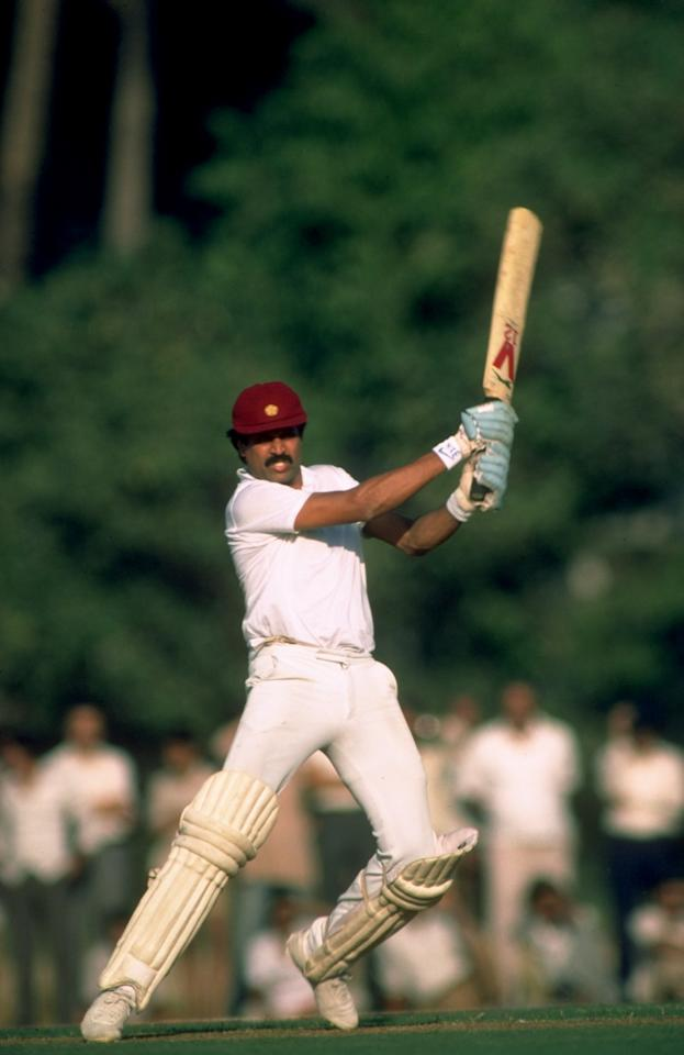 Nov 1984:  Kapil Dev of India in action during a match. \ Mandatory Credit: Adrian  Murrell/Allsport