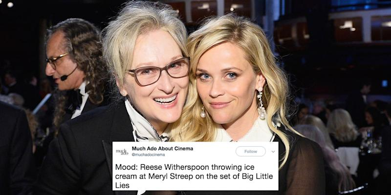 Reese Witherspoon Throwing Ice Cream At Meryl Streep Is Now The