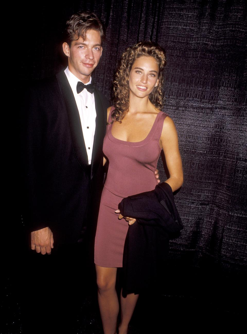 Harry Connick Jr. and Jill Goodacre during Gala Honoring Tommy Mottola - September 12, 1990 at Columbia Pictures Studios in Culver City, California, United States. (Photo by Ron Galella/Ron Galella Collection via Getty Images)