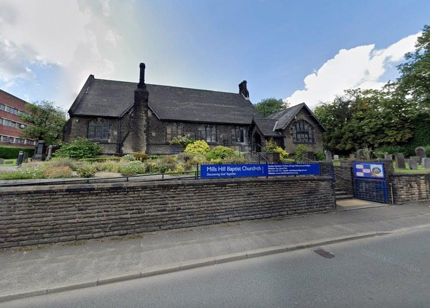 Mills Hill Baptist Church in Middleton, which has repaired the damage (Google Maps)
