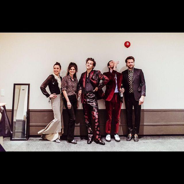 """<p>This one's Alexander McQueen, and once again, his band members are really making their own masterful style moves. </p><p><a href=""""https://www.instagram.com/p/BgoIbEZj2P8/"""" rel=""""nofollow noopener"""" target=""""_blank"""" data-ylk=""""slk:See the original post on Instagram"""" class=""""link rapid-noclick-resp"""">See the original post on Instagram</a></p>"""