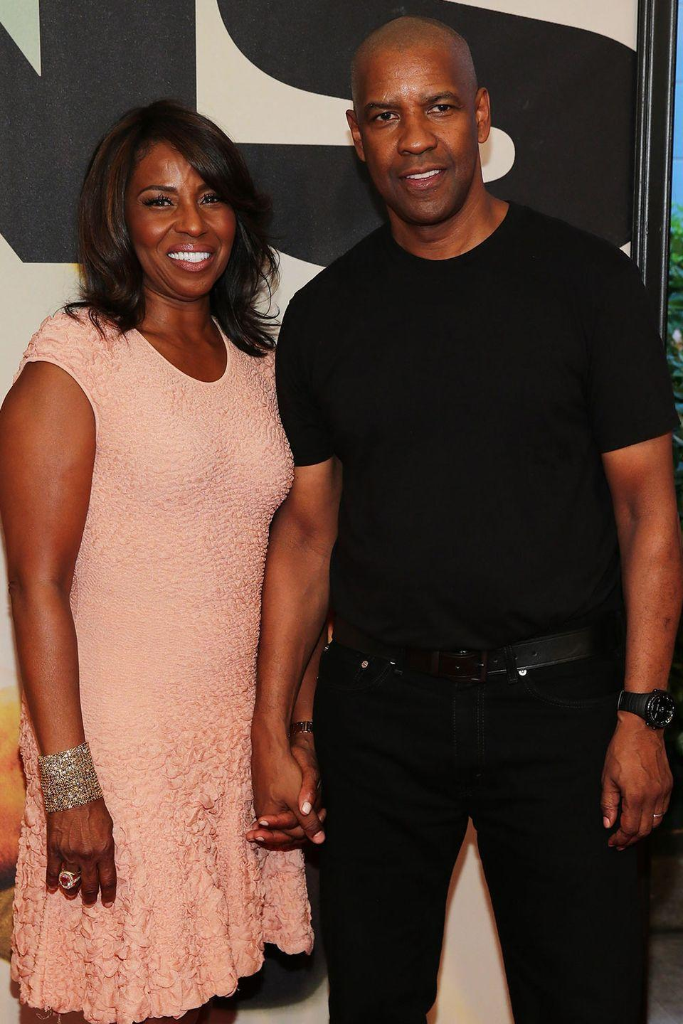 <p>The Washingtons both have the same pronounced chin. After more than 30 years together, it's a wonder they haven't become the same person.</p>