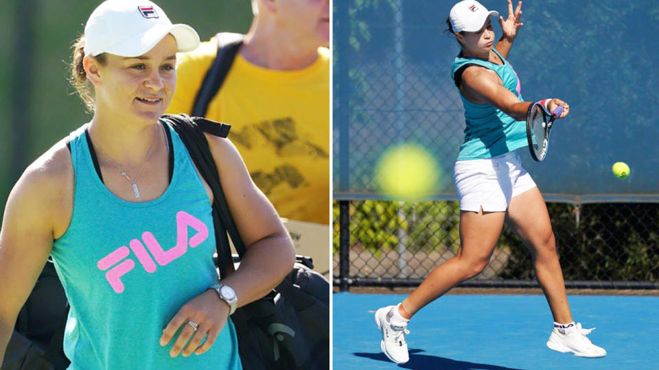 Ash Barty, pictured here in Adelaide ahead of the Australian Open.
