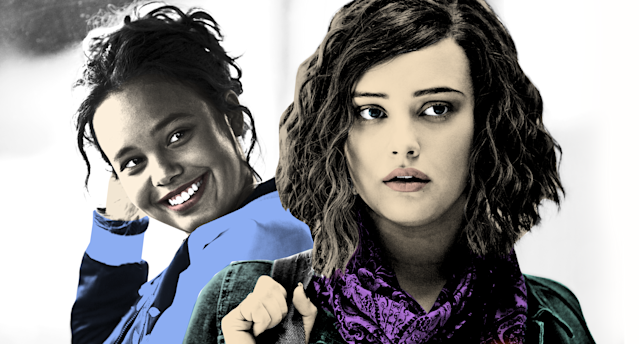 Alisha Boe as Jessica Davis and Katherine Langford as Hannah Baker in <em>13 Reasons Why</em>. (Photo: Netflix)