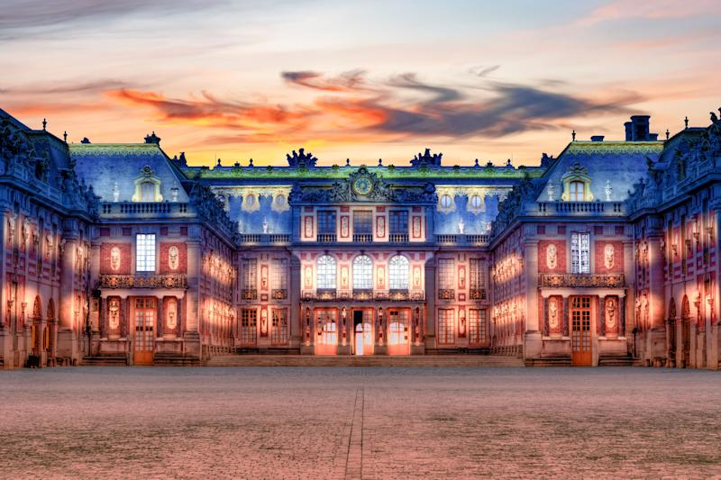 Paris, France - May 2019: Versailles palace near Paris at night (Photo: Vladislav Zolotov via Getty Images)