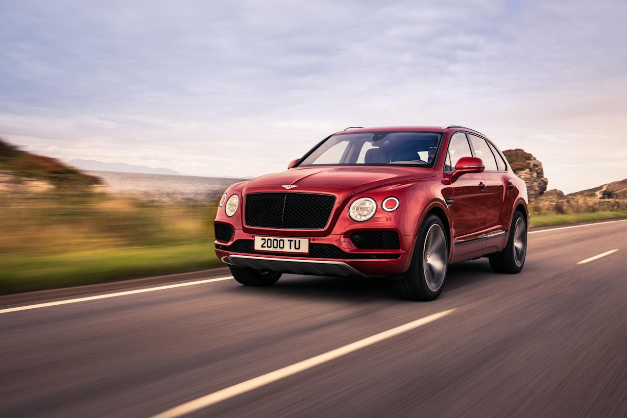 """<p>If you want a locomotive's torque, or you're A) Ferdinand Karl Piëch or B) two-time champion <a rel=""""nofollow"""" href=""""https://www.roadandtrack.com/motorsports/a15390137/bentley-bentayga-pikes-peak-hillclimb-2018/"""">Rhys Millen trying to beat an old Range Rover's record up Pikes Peak</a>, by all means, choose the regular 12-cylinder Bentayga. It starts at a cool $200,000, but you may want to spend 50 grand more for a well-equipped one, or even a hundred extra if the <a rel=""""nofollow"""" href=""""https://www.roadandtrack.com/new-cars/a19377938/bentley-bentayga-mulliner-equestrian/"""">Mulliner trims</a> are your jam.</p><p>But for everybody else, the new Bentayga V8 seems to be the Bentley SUV to have, at least for now. It's not only considerably cheaper, but also lighter and louder, and therefore younger at heart despite projecting the same message to all those Cayenne drivers: You drive a Bentley, while they certainly do not. Having said that, the Bentayga's new V8 is a Porsche engine, and like a Cayenne Turbo S, the Bentley offers ten-piston brake calipers and 17-inch carbon ceramic rotors up front.</p><p><em>Continue reading our first drive review of the V8 Bentayga <a rel=""""nofollow"""" href=""""https://www.roadandtrack.com/new-cars/first-drives/a19607563/bentley-bentayga-v8-first-drive-the-best-getaway-bentley-yet/"""">here</a>.</em> </p>"""
