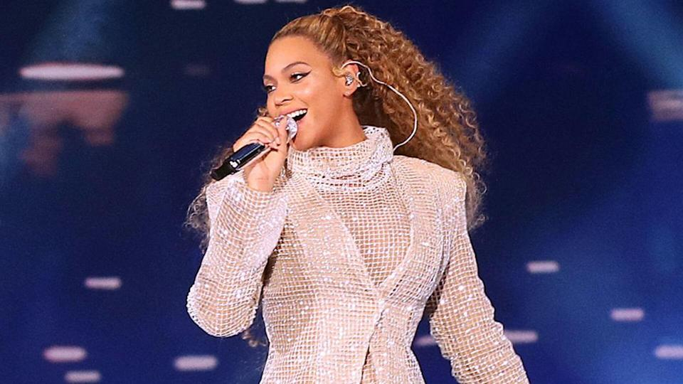 Mandatory Credit: Photo by PictureGroup/REX/Shutterstock (9704787f)Beyonce KnowlesBeyonce and Jay-Z in concert, 'On The Run II Tour', Principality Stadium, Cardiff, Wales, UK - 06 Jun 2018WEARING LAQUAN SMITH.