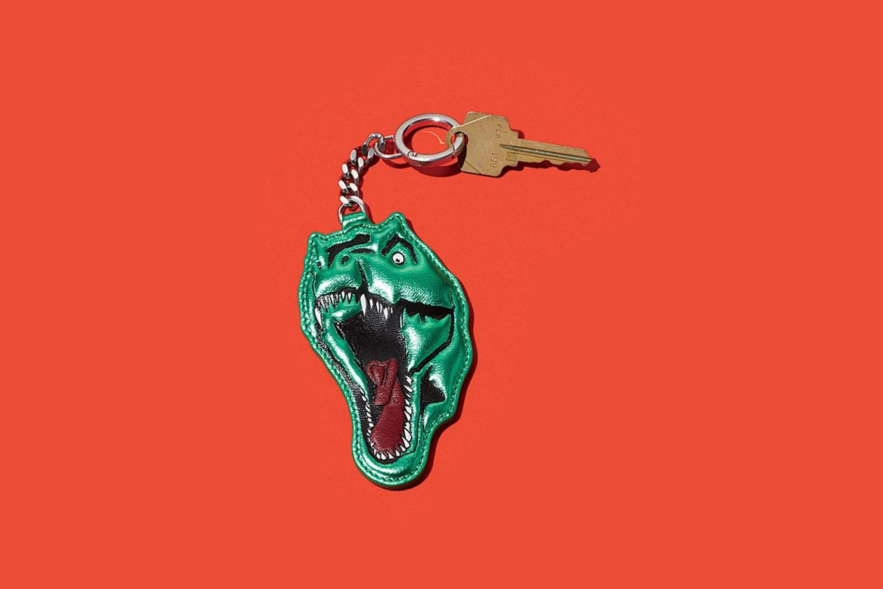"""<p>This dino on almost everything, a gift to those of us who can't swing the thousand-dollar sweater.</p><p><em>$195, buy now at <a rel=""""nofollow"""" href=""""http://www.neimanmarcus.com/Saint-Laurent-Metallic-Leather-Dinosaur-Key-Chain/prod196260067/p.prod?mbid=synd_yahoostyle"""">neimanmarcus.com</a></em></p>"""