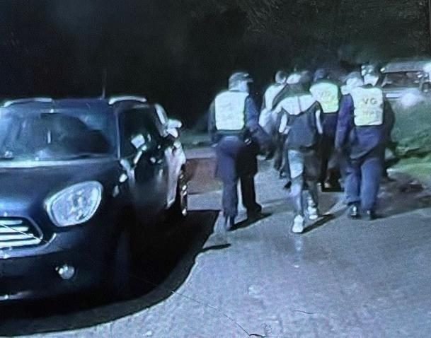 Handout photo issued by Essex Police of an illegal house party in Sewardstonebury where eighteen revellers were caught having an illegal house party and have been fined nearly £15,000 by Essex Police after officers attended the house in Bury Road at 5pm on Saturday, following reports a number of partygoers were at the property having a party.