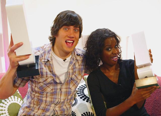 'T4' presenters Vernon Kay and June Sarpong in 2004 (Getty Images)