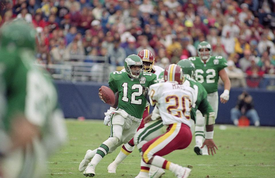 When he retired, Randall Cunningham had rushed for more yards than any quarterback in NFL history. (AP)